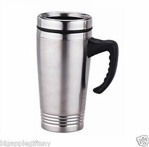 Image Is Loading Stainless Steel Insulated Double Wall Travel Coffee Mug