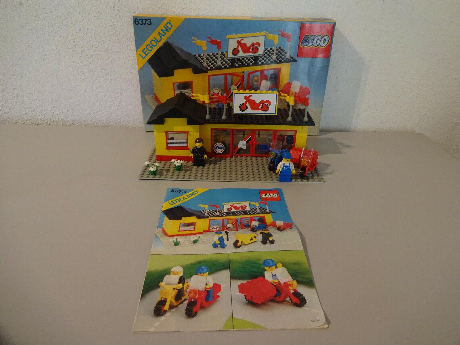 (GO) Legole 6373 negozio di moto con OVP & BA  100% COMPLETO USATO RARO  Miglior prezzo