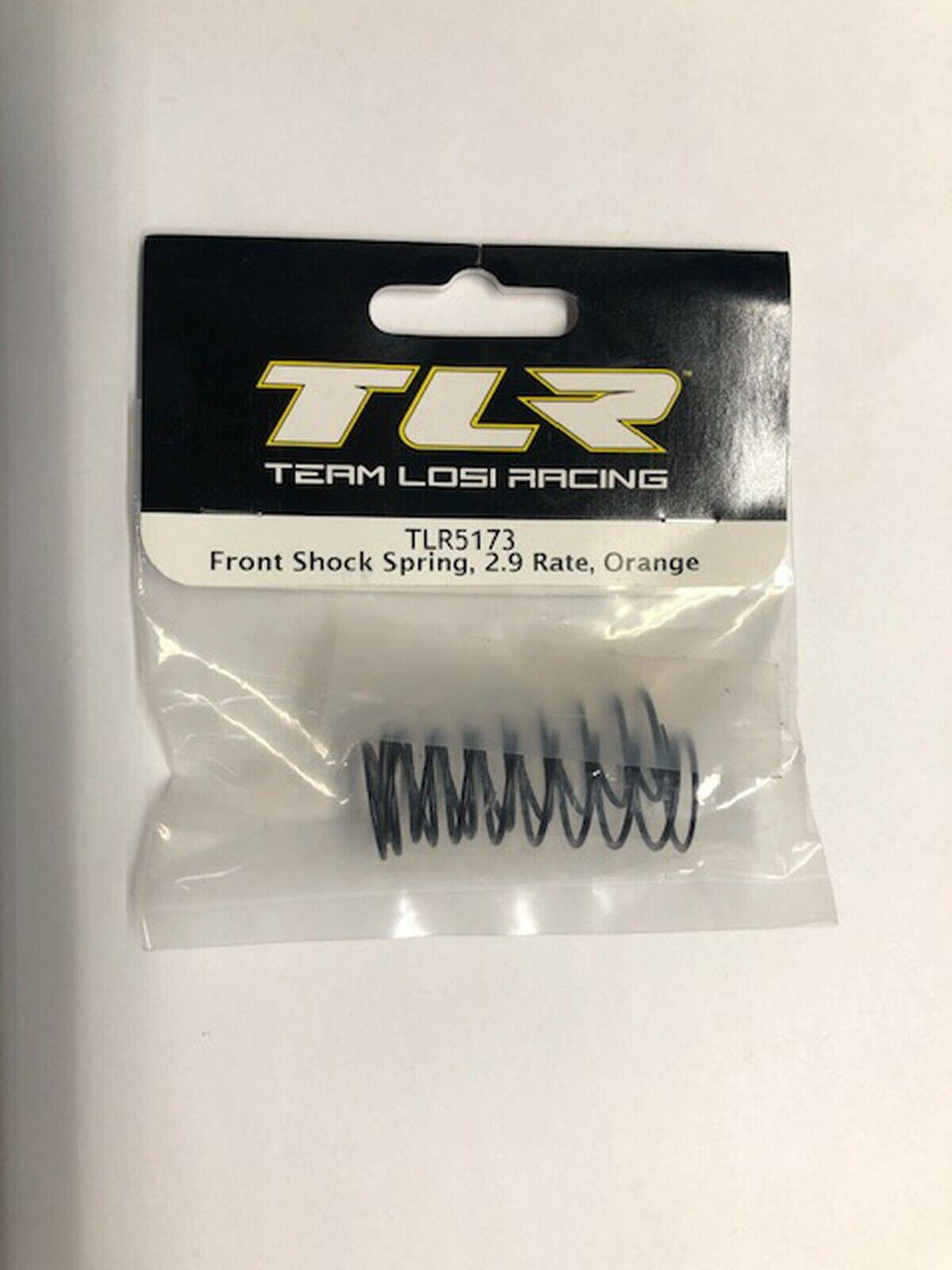 Team Losi Racing Front Shock Spring Orange 2.9 Rate TLR5173