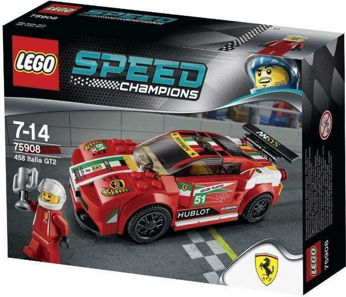 Lego Speed Champions 458 Italia GT2 (75908) New Sealed