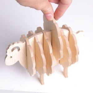 Schafe-Form-Anti-Rutsch-Kiefer-Untersetzer-Tischset-DIY-Kaffeetasse-Pad-Neu