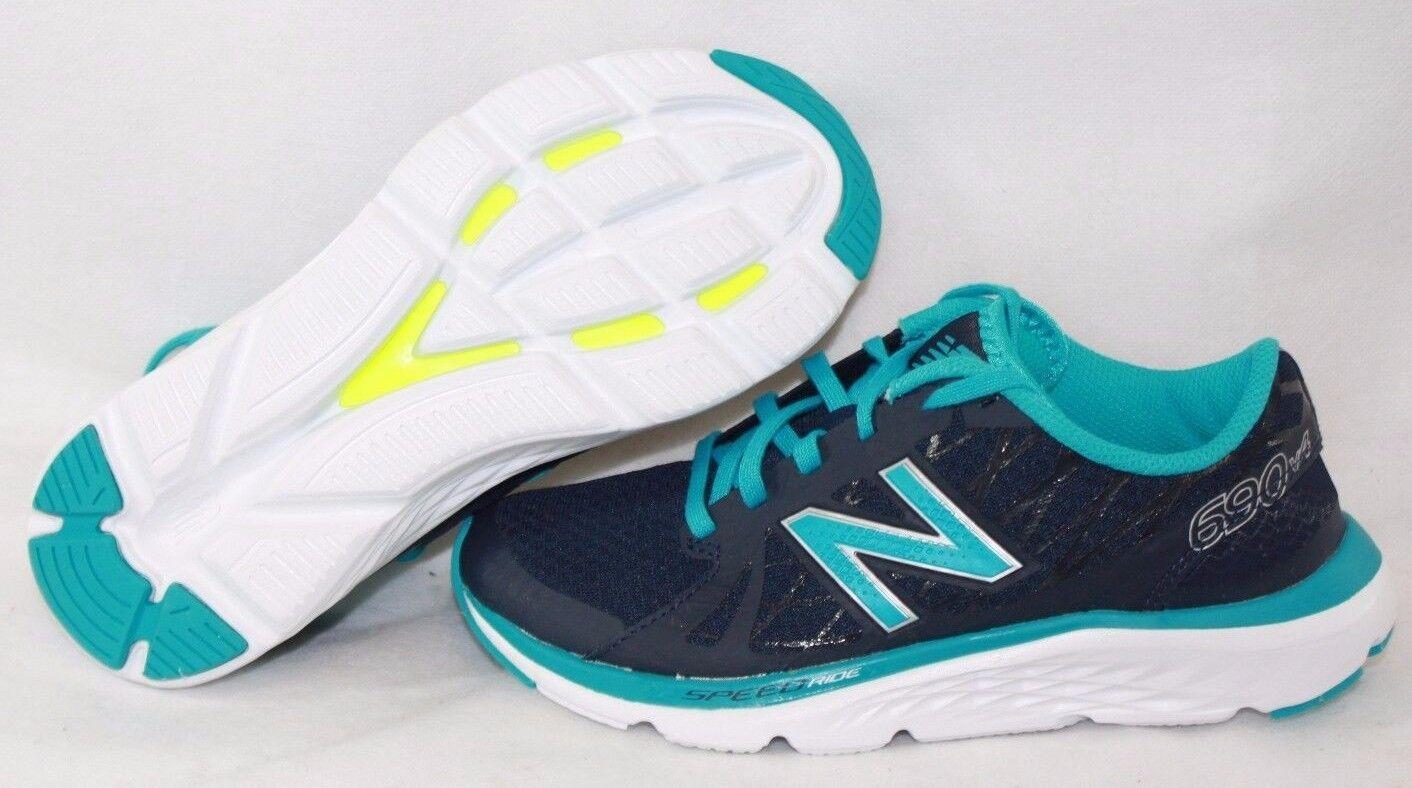 Nueva New camiseta para mujer New Nueva Balance 690 LN4 Verde Azulado Azul Marino Blanco Zapatos tenis de correr 8bd20d