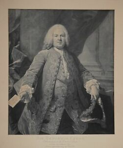 Sir-Benjamin-Keene-Ambassador-to-the-Court-of-Spain-1757-Grosse-Lithographie