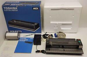 Toshiba-HX-P570-Plotter-Printer-for-MSX-Boxed-Super-complete-set-psu-manual