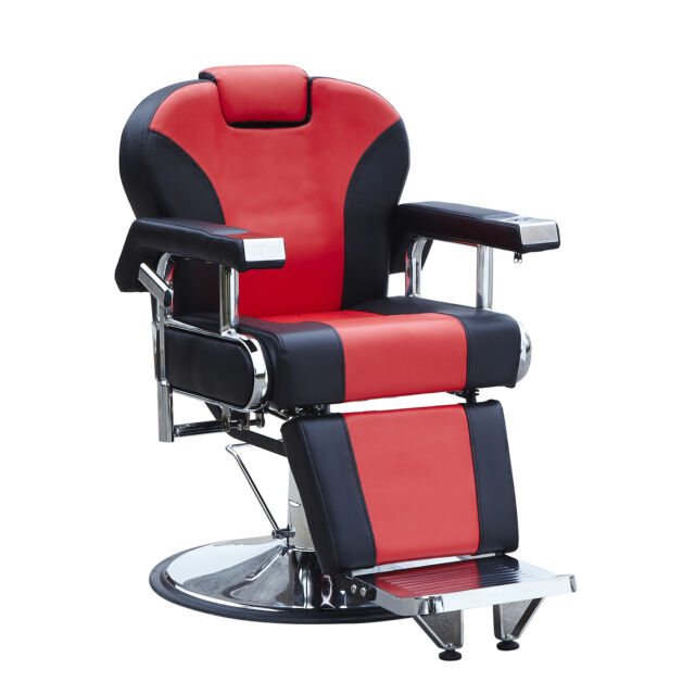 High Quality Red Heavy Duty Fashion Hydraulic Barber Chair Recline Salon Beauty Spa  Shampoo