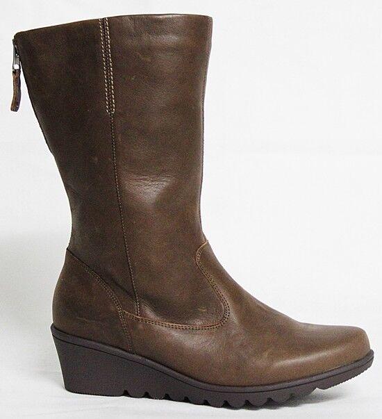 Bosque alfil hindru señora botas de cuero marrón señora botas 529808-184-243