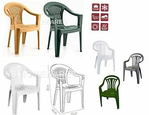 Image Is Loading Plastic Low Back Chair Patio Garden Outdoor Chairs