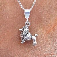 Poodle Mini Pendant Charm And Necklace- Free Shipping