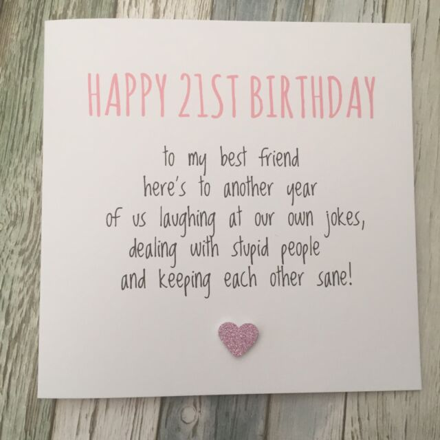 Funny 21st Birthday Cards: Funny Best Friend 21st Birthday Card Bestie Humour Rude