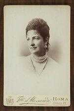 Marguerite de Savoie Reine d'Italie Regina Margherita Photo cabinet card Roma