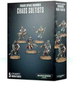 Easy-to-Build-Chaos-Cultists-Warhammer-40K-NIB-Flipside