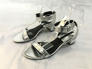 8704ff9abe0 Image is loading NEW-ZARA-SILVER-SANDALS-SIZE-4-UK
