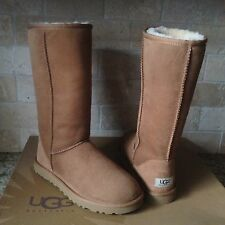 UGG Classic Tall Chestnut Suede Sheepskin Boots US 9 Womens 1005815