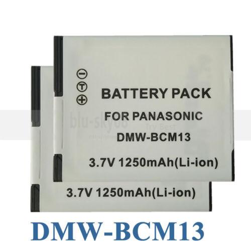 2 dmw-bcm13 dmwbcm13e Baterías Para Panasonic Lumix Dmc-ts5 Zs30 zs35 zs40 Lz40