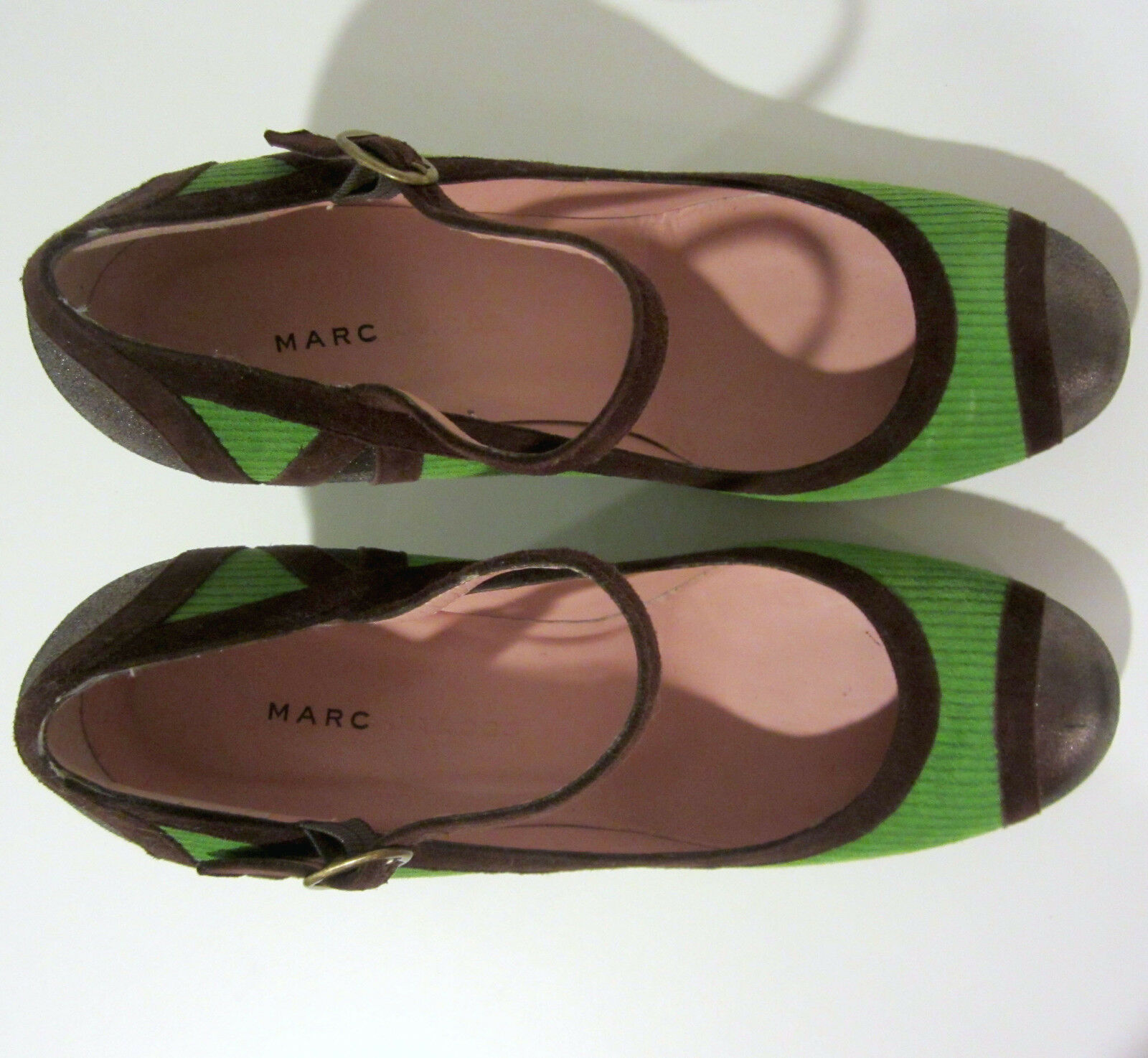 Marc by Marc Jacobs Grün heels heels heels 9.5 US 39.5 EU corduroy cap toe schuhe NEW  375 33222a