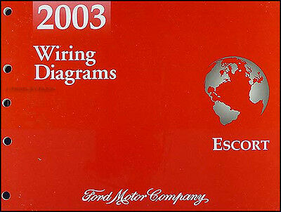 2003 ford escort zx-2 wiring diagram manual zx2 coupe electrical schematic  book | ebay  ebay