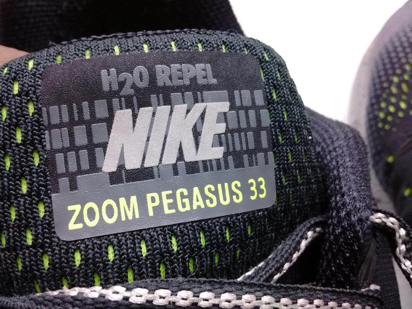 Nike Zoom Pegassus 33 33 33 Black Mesh Athletic Sneakers Lace Running Men shoes 12M 46 556721