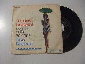 """Nico Fidenco –Con Te Sulla Spiaggia-Disco Vinile 45 Giri 7"""" Stampa ITALIA 1964"""