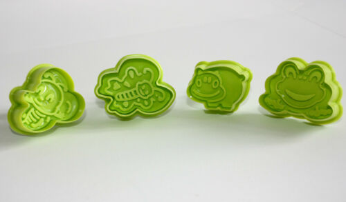Pastry /& Sugarcraft Ejector Cutters 4 Cutters in Pack Frog /& Insect