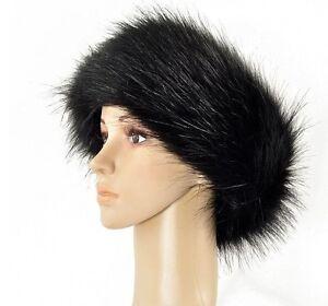 43c51d46ff1 Ladies Faux Fake Fur Hat HeadBand Winter Ear warmer Hat Ski NEW ...