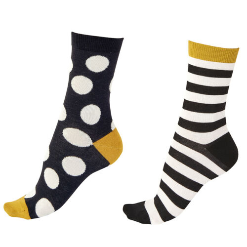 Pretty Polly Bambou Chaussettes ~ Spot//Rayure ~ BNWT
