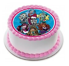 Monster High Edible Birthday Party Cake Decoration Topper Round Image
