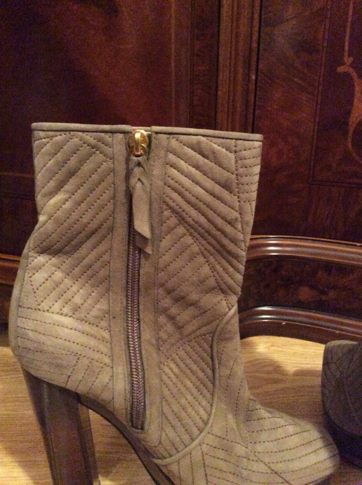 POLLINI 1290    grau suede isabel marant dustbag block heel ankle Stiefel 38 5 efbdfb