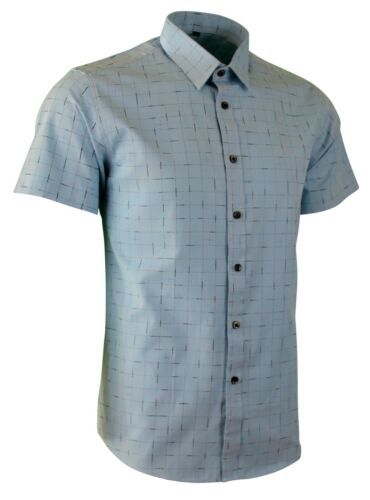 Details about  /MENS SMART QUALITY SHORT SLEEVES CASUAL WEDDING PARTY SHIRT CHECK £ 16.99 473