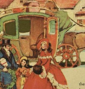 Vintage-Merry-Christmas-Gold-Sparkle-Scalloped-Edge-Postcard-Made-USA-1932