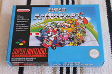 SNES SUPER MARIO KART BOX ONLY PAL VERSION NEW NO GAME