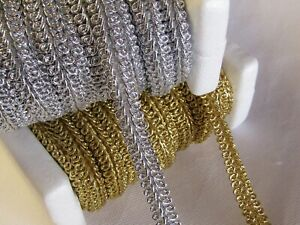 SILKY SCROLL GIMP BRAID 50 METRE REEL Trim for Upholstery Furnishings Costumes