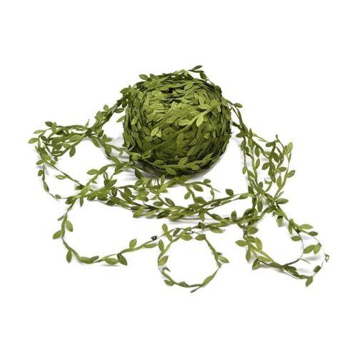 10 Meter Silk Leaf-Shaped Handmake Artificial Green Leaves Decoration DIY Wreath