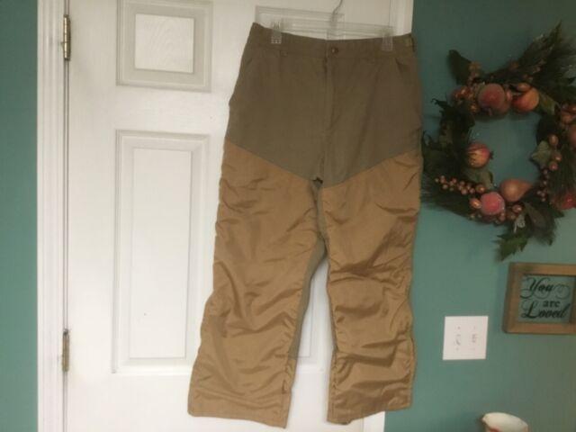 Columbia Brown Khaki Cotton Canvas Upland Hunting Pants 36 X 28 (CON40)