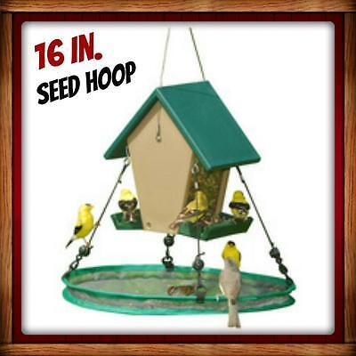 "Songbird Essentials 30/"" SeedHoop SEED HOOP SEED CATCHER PLATFORM BIRD FEEDER #dm"