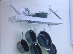 Cuisinart CRBS-36B Rectangular Bookshelf Pot Rack Pan ...