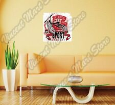 "BMX Bike Extreme Sport Freeride Gift Wall Sticker Room Interior Decor 22""X22"""