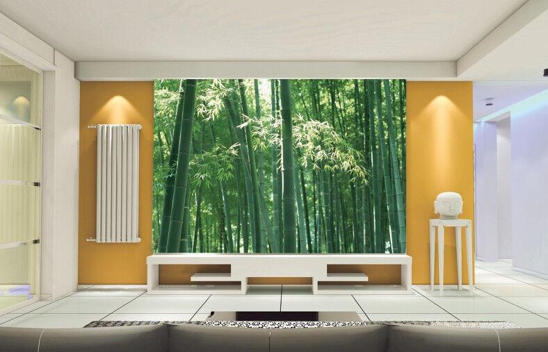 3D Grüner Bambuswald 455 Tapete Tapeten Mauer Foto Familie Tapete Wandgemälde