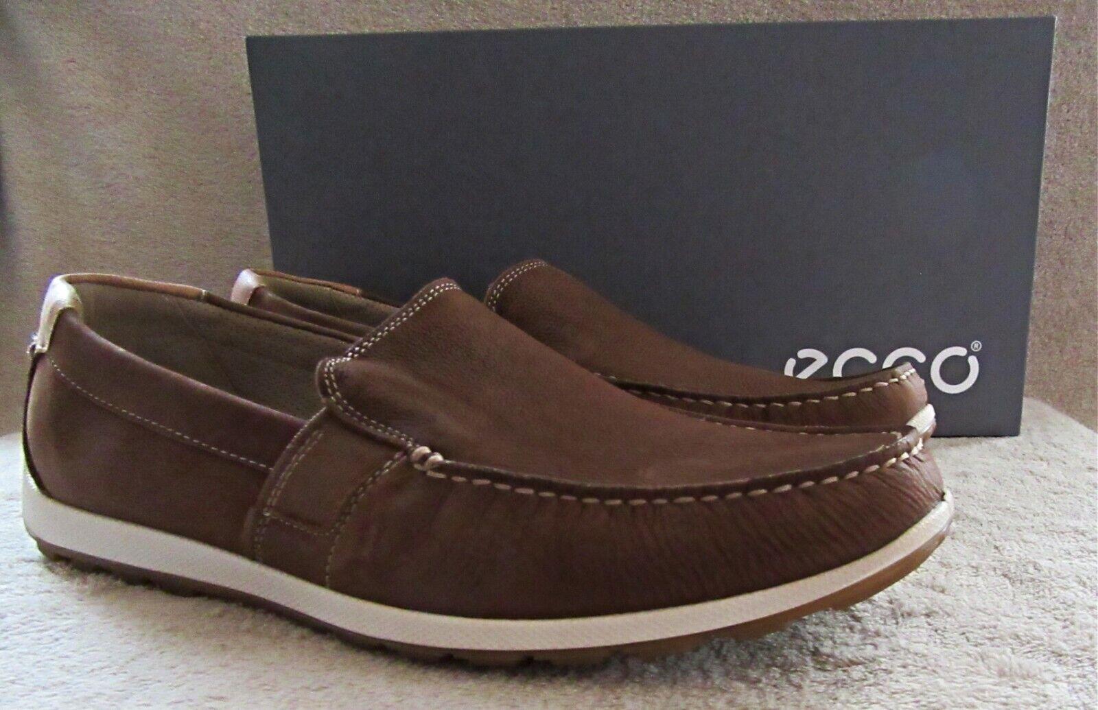 ECCO Reciprico Mahogany Nubuck Leather Moccasin shoes US 10 - 10.5 M EUR 44 NWB