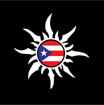 Puerto Rico Flag Surfer Boy Decal Sticker