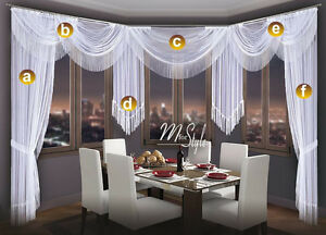 Image Is Loading Choice Of Swags Amp Tails Net Sheer Curtain