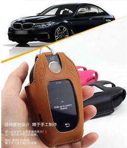 Color Real Leather Car Key Case For Bmw 2018 New 5 Series 520i 530i