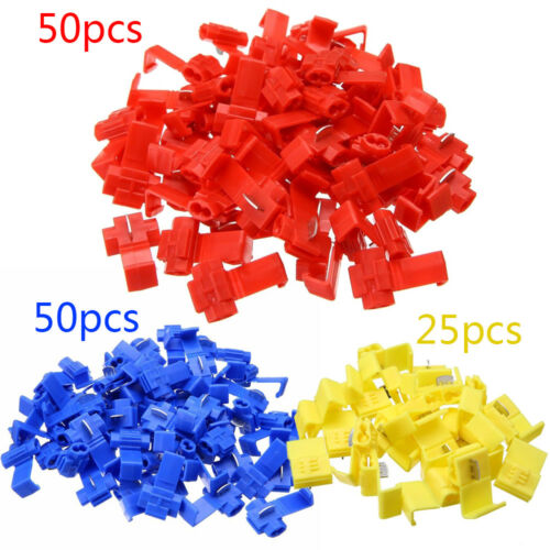125 PCS ALL SIZES Quick Splice Tap Wire Connectors 12-10 16-14 22-18 Gauge IN US