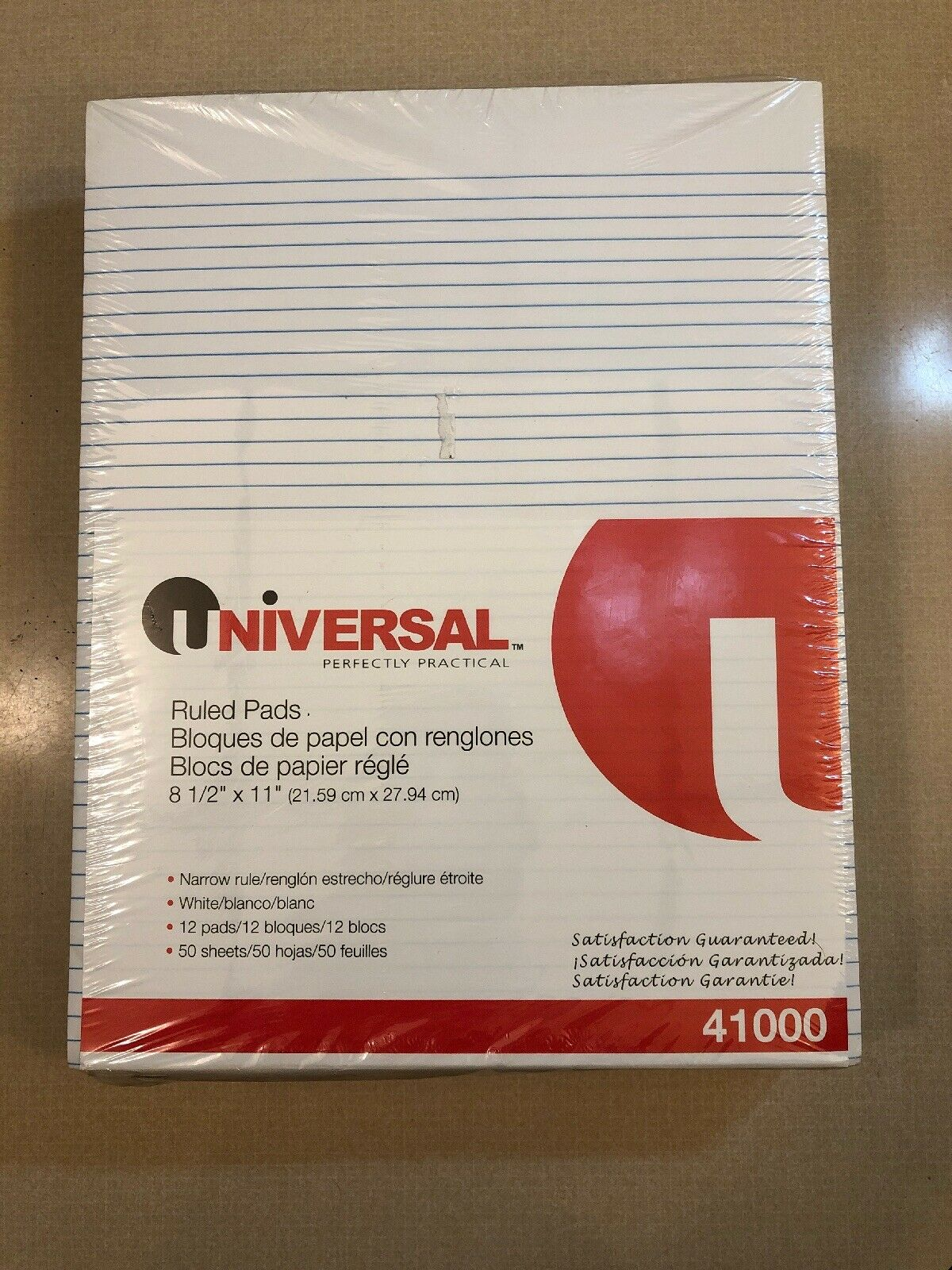 50 Sheet Pads//Pack Dozen White Letter Legal Rule Universal 11000 Glue Top Writing Pads