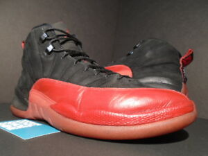 promo code a22b2 0f84b Details about 2009 NIKE AIR JORDAN XII 12 RETRO FLU GAME BLACK RED WHITE  BRED 130690-065 OG 11