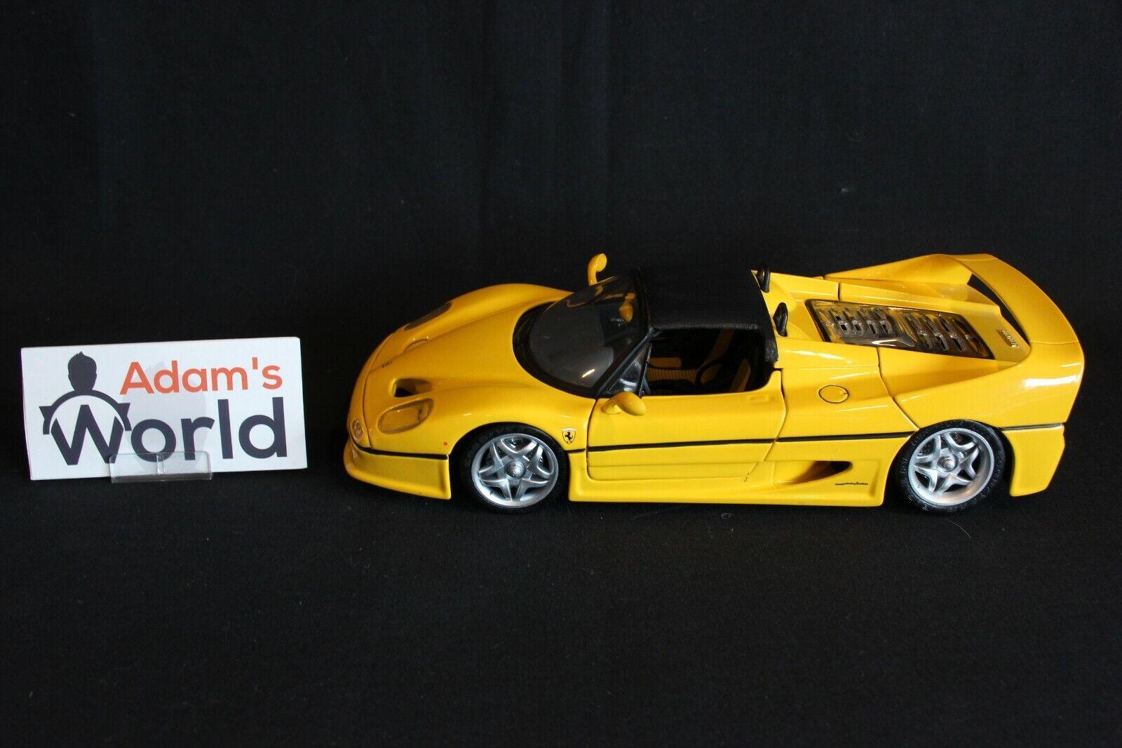 diseño único Hot Wheels Transkit Transkit Transkit Ferrari F50 Cabriolet  short soft top  1 18 amarillo (PJBB)  servicio honesto