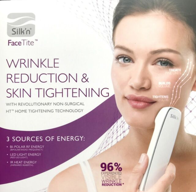 Best At Home Skin Tightening Devices 2020.Authentic Silk N Facetite Wrinkle Reduction Skin Tightening Anti Aging Device