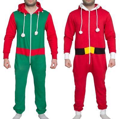 Serio Unisex Elfo Babbo Natale Uomo Donna Onepiece Tuta Novità Natale-mostra Il Titolo Originale