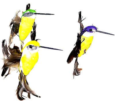 2x Drehender Vogel Kolibri Figur Solar Batteriebetrieb Garten Stab Balkon Blumen