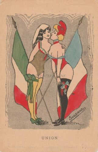 ITALY FRANCE Union 1904 Suzanne