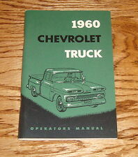 1960 Chevrolet Truck Owners Operators Manual 60 Chevy